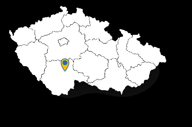 Mapa s polohou obce Dražíč